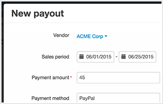 Vendor Payouts Recording